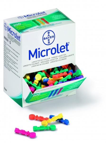 Blutlanzetten Ascensia Microlet farbig