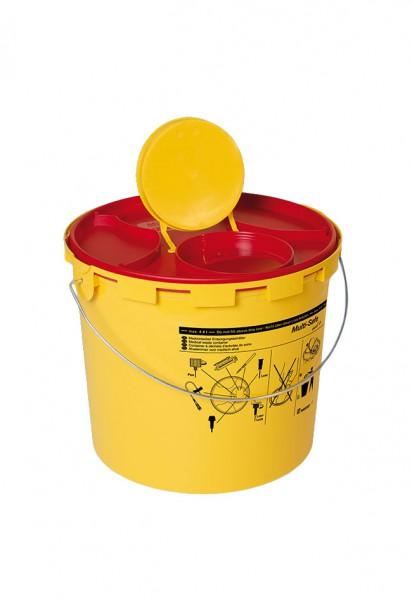 Entsorgungsbehälter für Kanülen mit Deckel